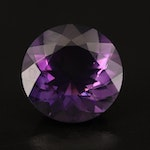 Loose 22.48 CT Round Faceted Amethyst