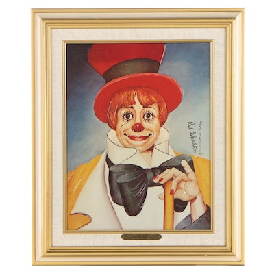 """Red Skelton Embellished Photographic Print """"Clown's Clown"""""""