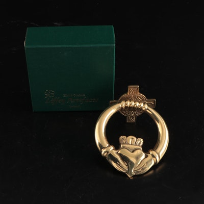 Liffey Artefacts Hand-Crafted Irish Brass Claddagh Door Knocker