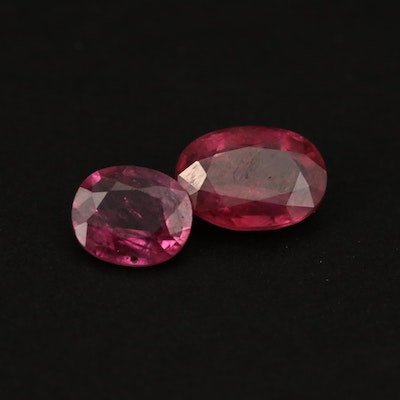 Loose 2.42 CTW Oval Faceted Rubies