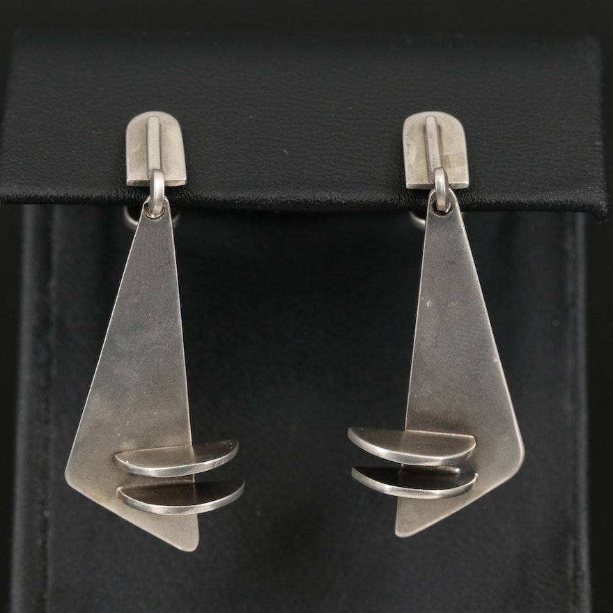 Modernist Geometric Drop Earrings