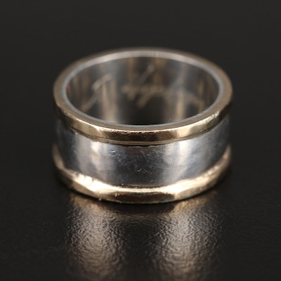 Signed Sterling and 14K Band