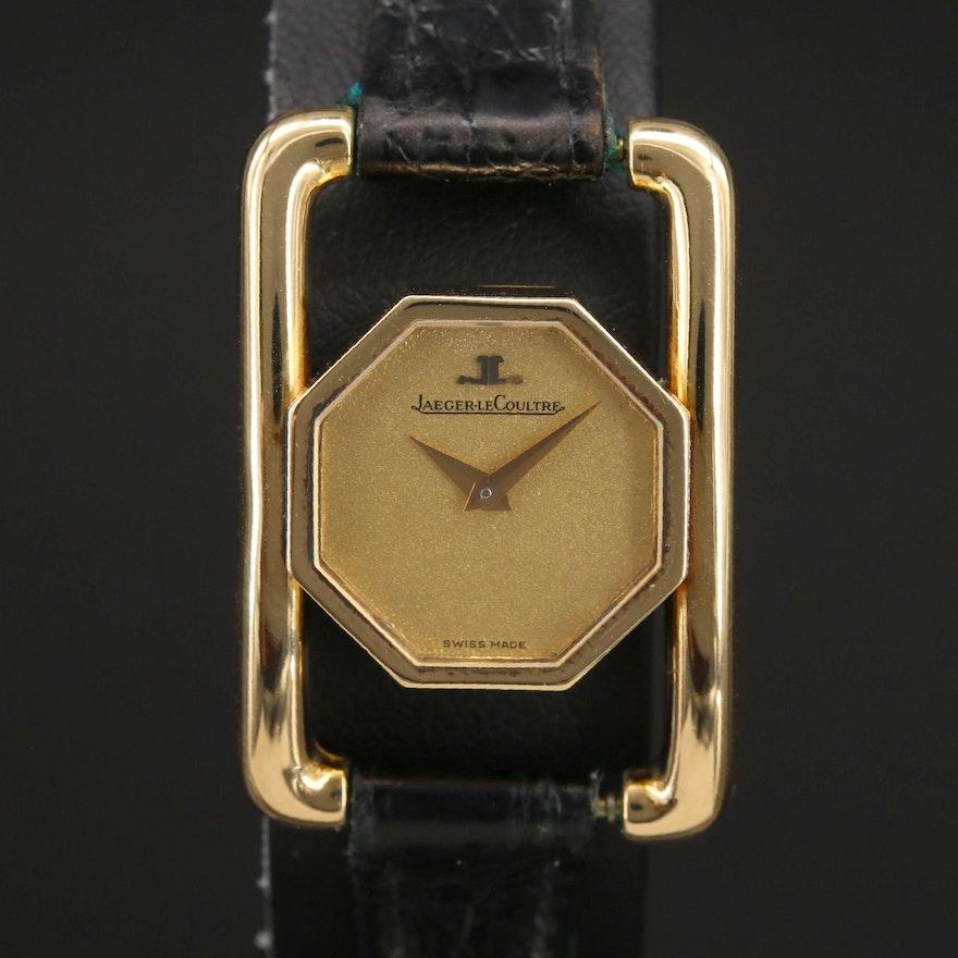 Vintage Jaegar-LeCoultre 18K Yellow Gold Stem Wind Wristwatch