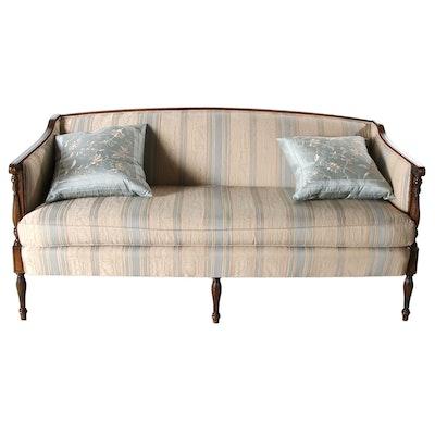 Sam Moore Sheraton Style Upholstered Sofa, Late 20th Century