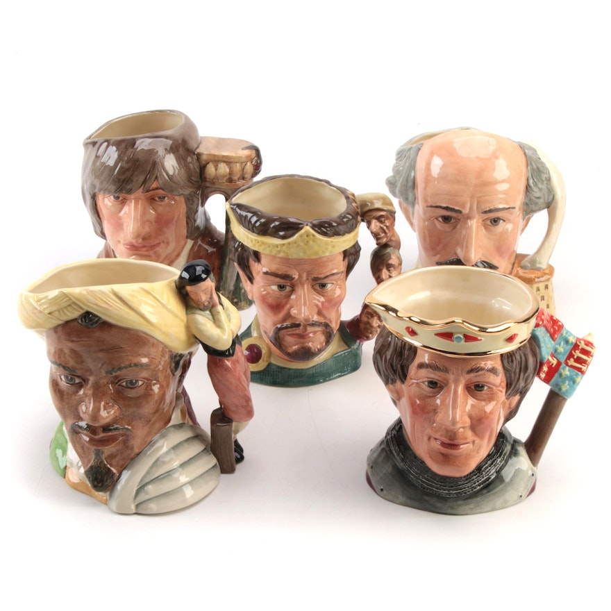 """Royal Doulton """"The Shakespearean Collection"""" Ceramic Character Mugs"""