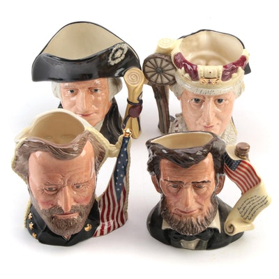 """Royal Doultan """"Abraham Lincoln"""", """"George Washington"""" and Other Character Jugs"""
