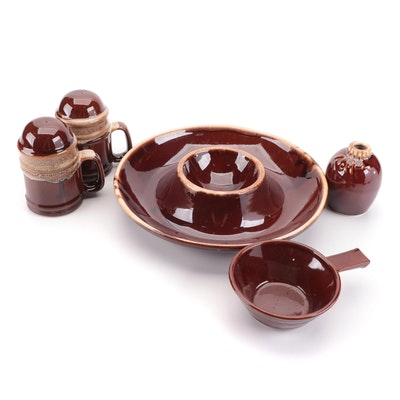 Kathy Kale Ceramics Chip and Dip Platter, Hull Shakers and More