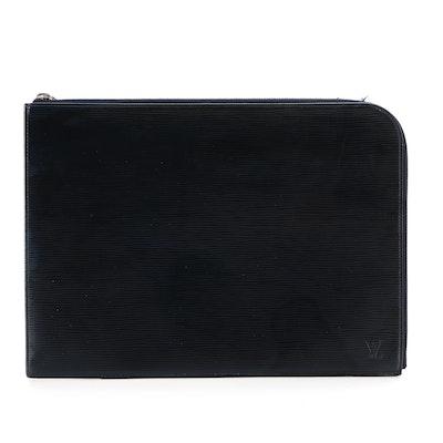 Louis Vuitton Poche Document Portfolio in Blue Marine Epi Leather