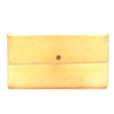 Louis Vuitton Sarah Wallet in Monogram Vernis Leather