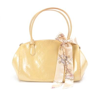 Louis Vuitton Sherwood PM Bowler Bag in Perle Monogram Vernis