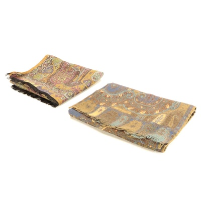 ETRO Paisley Wool/Silk Blend Scarves