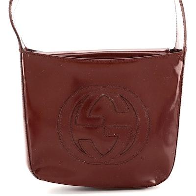 Gucci Interlocking GG Handbag in Russet Glazed Leather