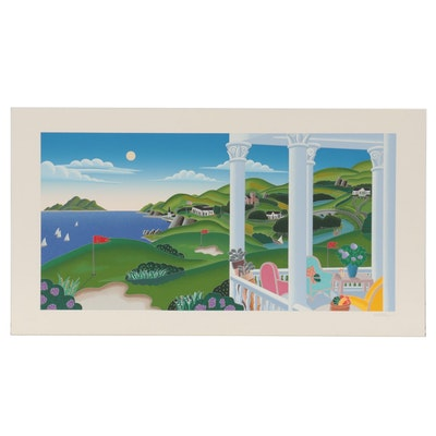 "Thomas McKnight Serigraph ""Seaside Golf,"" 1992"