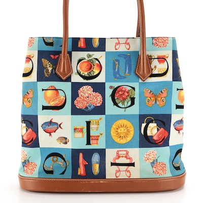 Gucci Tote Bag in Pictorial Canvas and Leather Trim