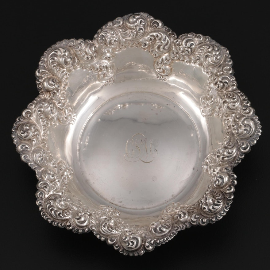 J.F. Fradley & Co. Sterling Silver Bowl, Late 19th to Early 20th Century