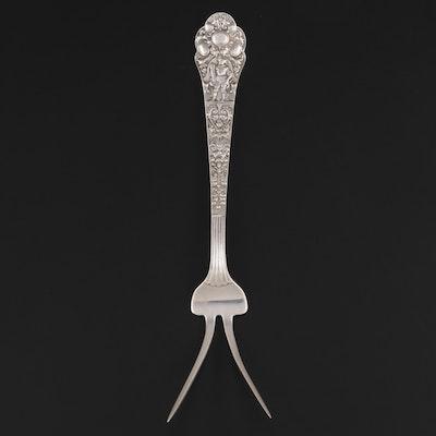 """Gorham """"Medici"""" Sterling Silver Serving Fork"""