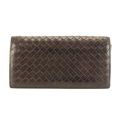 Bottega Veneta Brown Intrecciato Leather Wallet