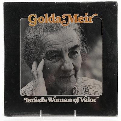 "Golda Meir ""Israel's Woman of Valor"" Sealed LP Record Album, 1979"