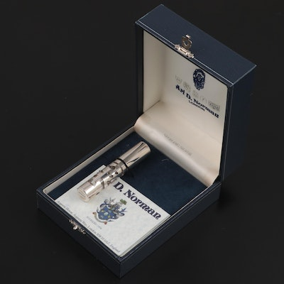 Ari D. Norman Sterling Silver and Glass Perfume Bottle with Case, 2006