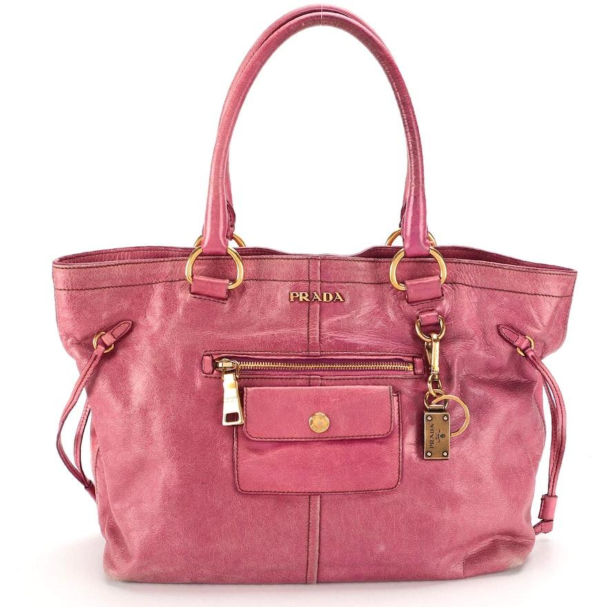 Prada Pink Vitello Leather Tote