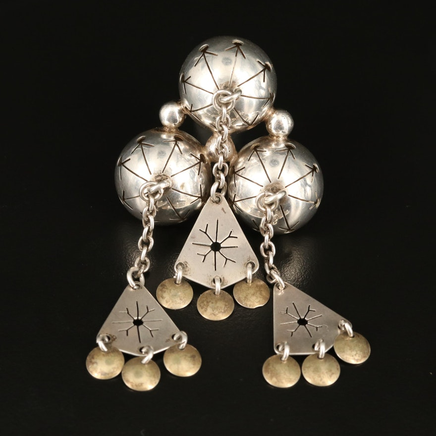 Vintage Norwegian Frank & Regine Juhls 830 Silver Wedding Brooch