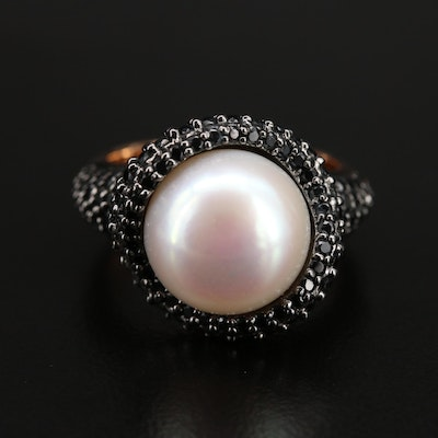 Honora Bronze Pearl and Spinel Ring