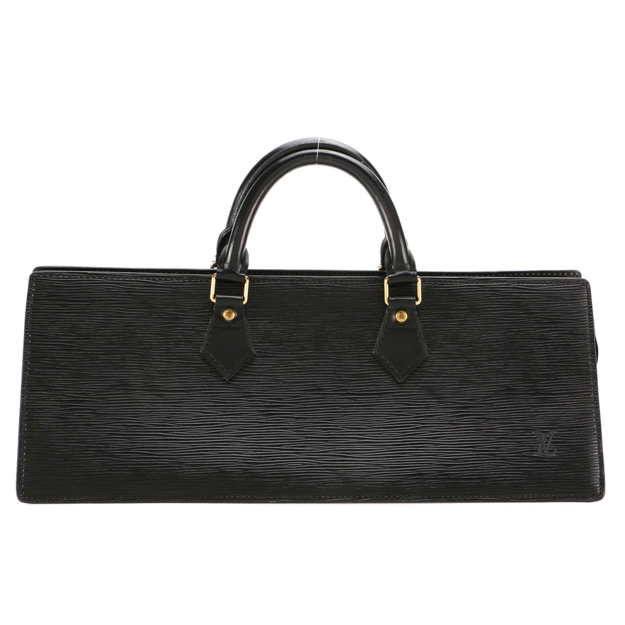 Louis Vuitton Sac Triangle in Black Epi Leather