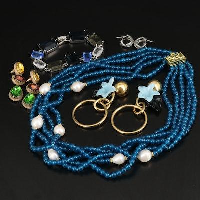 Necklace, Bracelet and Earrings Including Deepa Gurnani and Carolee