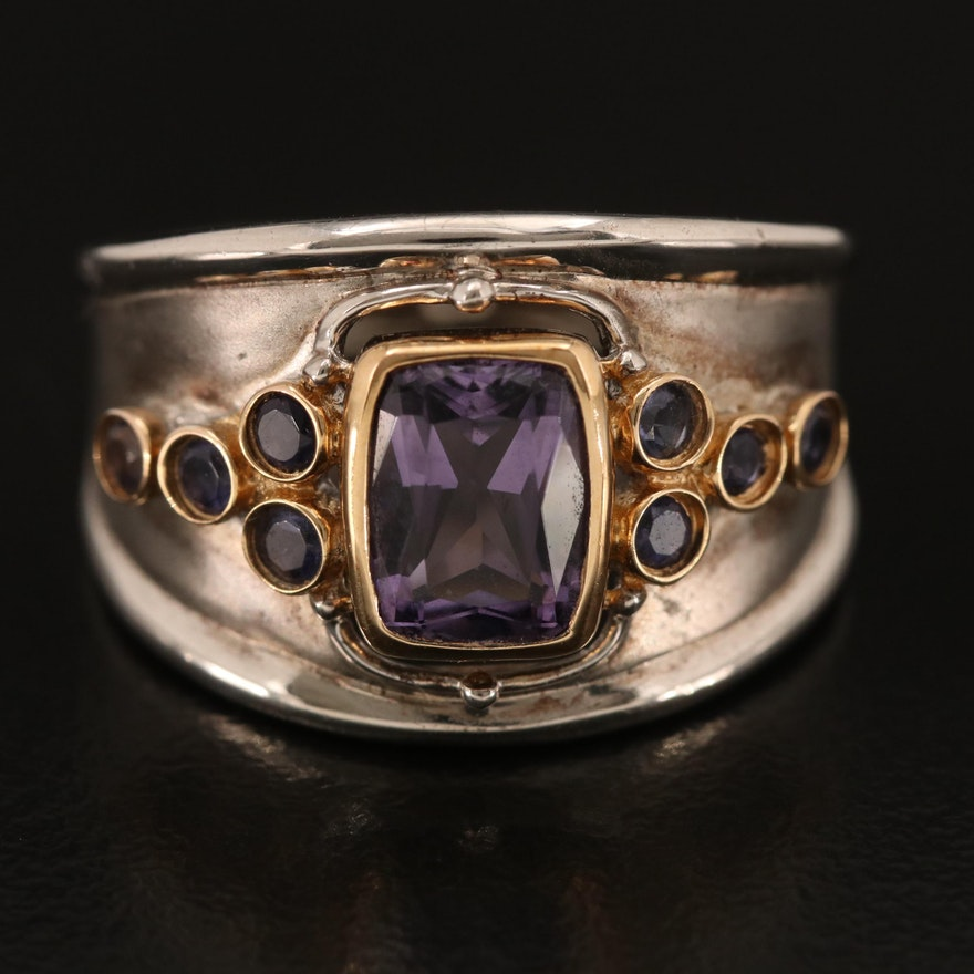 Sterling Iolite Ring