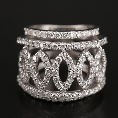 18K 2.10 CTW Diamond Openwork Ring