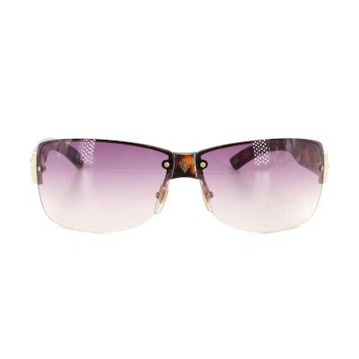 Gucci 2803 Havana Semi-Rimless Sunglasses