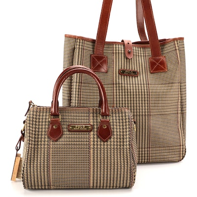 Polo Ralph Lauren Boston Bag and Tote in Glen Check Coated Canvas