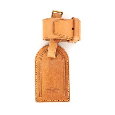 Louis Vuitton Vachetta Leather Luggage Tag and Poignet Set