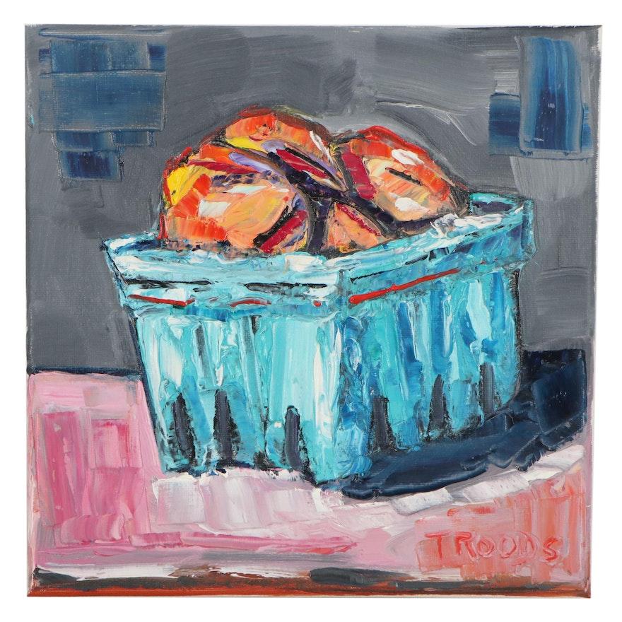 "Patricia Nolan-Brown Oil Painting ""Peaches"""