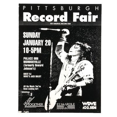 Joan Jett Themed Pittsburgh Record Fair Poster