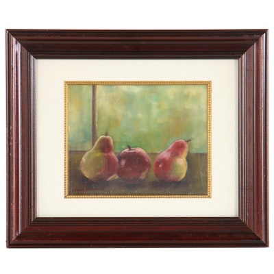 Eugenia Norlock Still Life Oil Painting of Pears