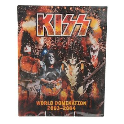 """2003-2004 Kiss Signed """"World Domination"""" Concert Tour Program, JSA Full Letter"""