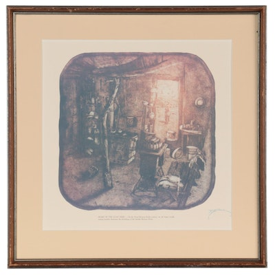 """Offset Lithograph After Roy Purcell """"Home of the Goat Herd,"""" Late 20th Century"""