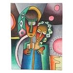 "Taofeek Olalekan Oil Painting ""Sweetheart"""