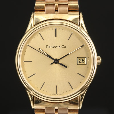 Tiffany & Co. Gold Plated Wristwatch