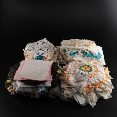Lace and Crochet Doilies and Other Table Linens