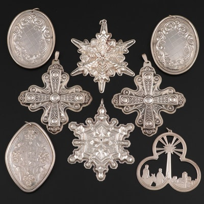 Reed & Barton, Gorham and Other Sterling Silver Christmas Ornaments