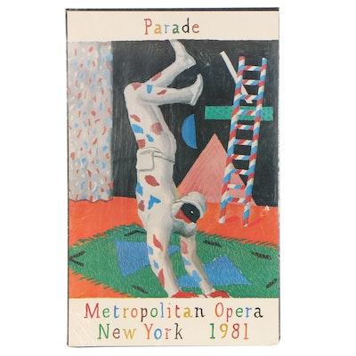 "Offset Lithograph After David Hockney ""Metropolitan Opera"""