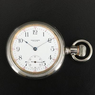 1918 Waltham Side Winder Pocket Watch