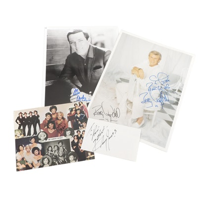 Andy Williams, Bobby Rydell, Sonny James, and Lennon Sister Signed Photo Prints