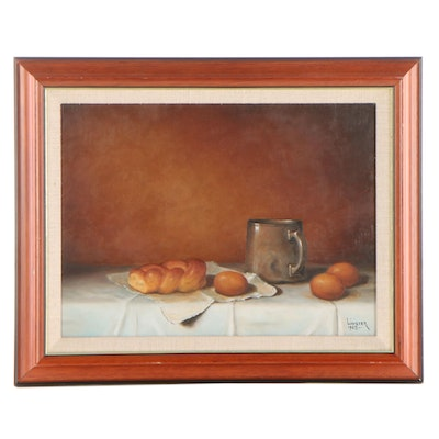 G. Linister Smith Still Life Oil Painting, 1965