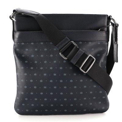 Coach Crossbody Bag in Midnight Navy Star Print Leather