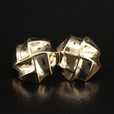 14K Button Earrings