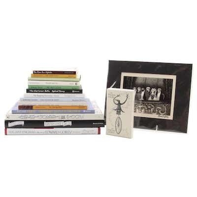 """Edward Gorey Book Collection Including """"The Haunted Tea-Cosy"""" and More"""