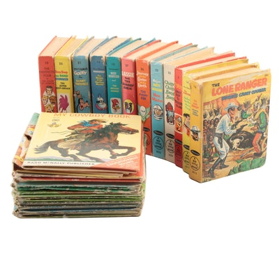 """""""Big Little Book""""  Books Including """"The Lone Ranger"""", """"Popeye"""" Mid/Late 20th C."""